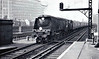 34063 229 SQUADRON - Bulleid SR Battle of Britain/West Country Class 4-6-2 - built 05/47 by Brighton Works as 21C163 - 02/49 to BR No.34063 - 08/65 withdrawn from 72B Salisbury - seen here at Vauxhall.