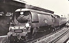 34002 SALISBURY - Bulleid SR Battle of Britain/West Country Class 4-6-2 - built 06/45 by Brighton Works as SR No.21c102 - 01/49 to BR No.34002 - 04/67 withdrawn from 70A Nine Elms - seen here at Vauxhall, 1966.