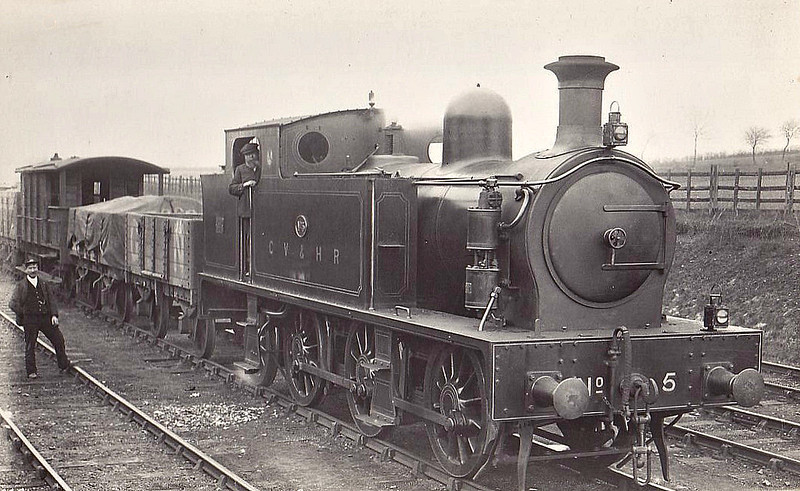 No.5 - CVHR 0-6-2T LNER Class N18 - built 08/08 by Hudswell Clarke & Co. - 1923 to LNER No.8314 - 01/28 withdrawn from Colchester MPD - seen here at Haverhill.