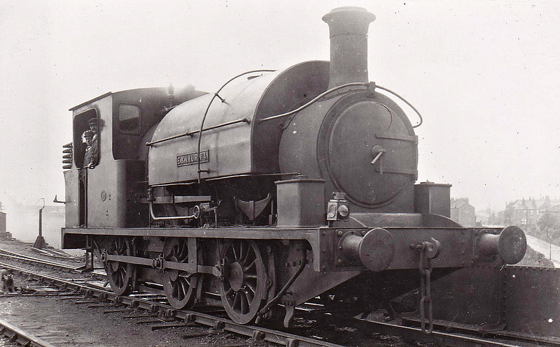No.4 - E&WYUR 0-6-2ST - built 1898 by Manning Wardle & Co., Works No.1398 - 1919 rebuilt as 0-6-0ST, as seen here - 1923 to LNER Class J85 No.3114 - 1933 withdrawn - seen here at Robin Hood, September 1923.