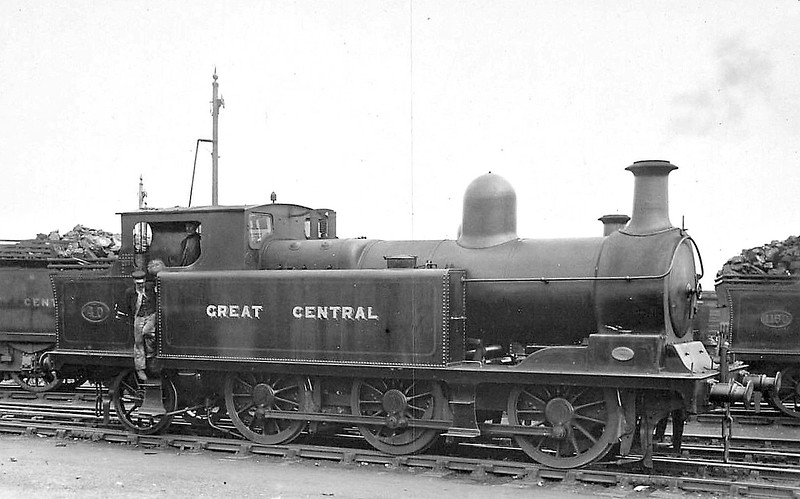 40 - Kitson LDECR 0-6-2T - built 1900 by Kitson & Co. as LDECR No.24 - 1908 to GCR Class A No.1164, 06/20 to GCR No.40, 11/25 to LNER No.5040 - 09/35 withdrawn.