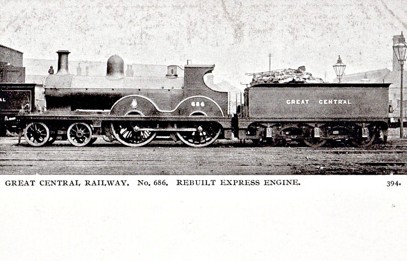 686 - Parker MSLR Class 2 LNER Class D7 4-4-0 - built 03/1892 by Gorton Works - 08/24 to LNER No.5686 - 08/33 withdrawn from Immingham MPD.