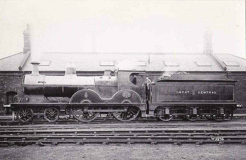 866 - Pollitt GCR Class 11A LNER Class D6 4-4-0 - built 01/1899 by Beyer Peacock Ltd - 1923 to LNER No.5866 - 09/30 withdrawn from Brunswick MPD.
