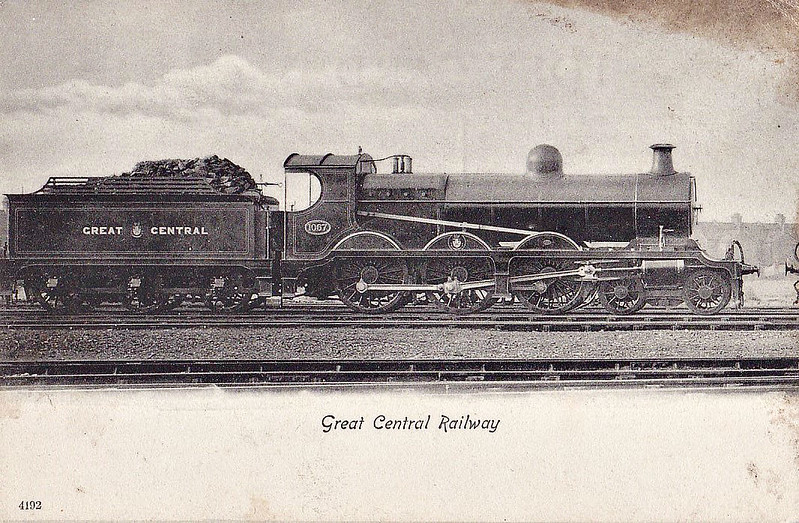 1067 - Robinson GCR Class 8 LNER Class B5 4-6-0 - built 11/02 by Neilson Reid & Co. - 10/24 to LNER No.6067, 11/46 to LNER No.1678 - 11/47 withdrawn from Mexborough MPD.
