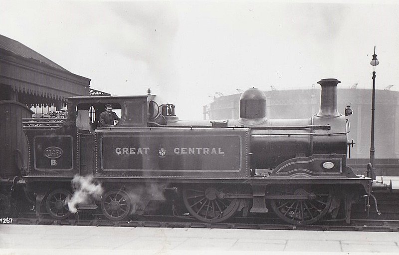 1148 - LDECR Class C3 LNER Class G3 0-4-4T - built 11/1897 by Kitson & Co. as LD&ECR Class C No.14 - 1907 to GCR No.1148B, 01/26 to LNER No.6406 - 02/35 withdrawn from Barnsley MPD.