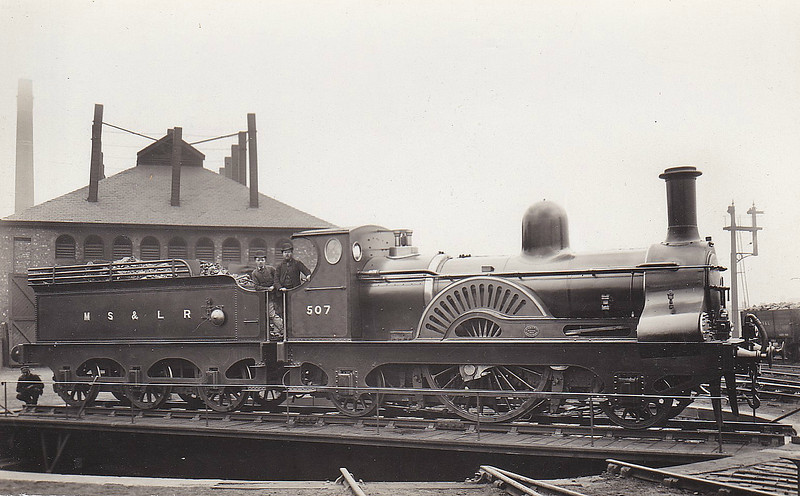 507 - Sacre MSLR Class 14 2-2-2 - built 1883 by Gorton Works as MSLR No.507 - 1893 to No.112, 1904 to No.112B - 06/07 withdrawn.