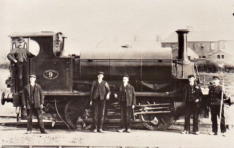 WREXHAM, MOLD & CONNAH'S QUAY RAILWAY - No.9 DEE - 0-4-0ST - built 1871 by Hudswell Clarke & Co. for Thomas Butlin & Co., Wellingborough - 1881 to WM&CQR - 1897 to GCR as No.402B - 1909 withdrawn.<br /> Wrexham, Mold & Connah's Quay Railway was buit in 1862 to link local pits and brickyards to Connah's Quay on the River Dee. In 1887 it was extended to run into Wrexham Central Station and it also had connections with the LNWR. In 1897, the Company went into receivership and was bought by the GCR in 1897.