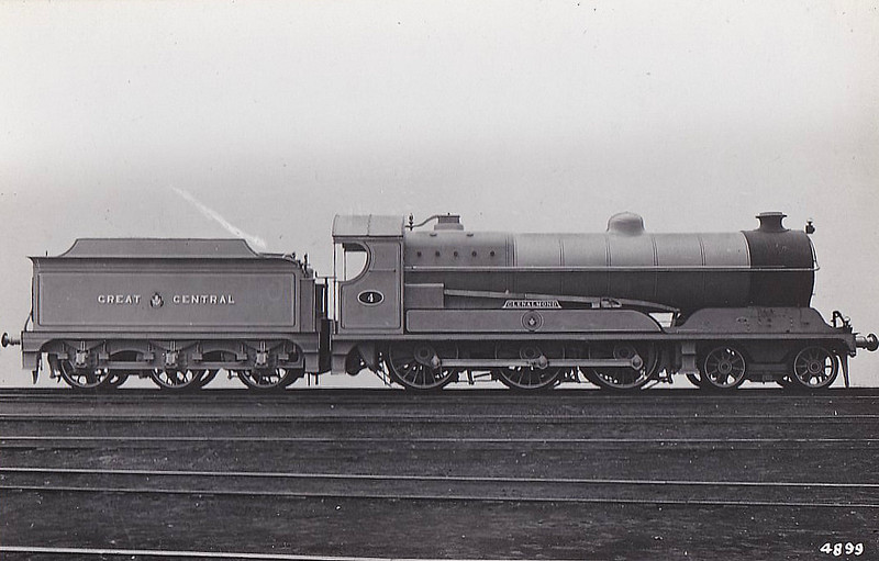 4 GLENALMOND - Robinson Class B8 4-6-0 - built 06/13 by Gorton Works as GCR No.4 - 07/25 to LNER 5004, 08/46 to LNER No.1349 - 11/47 withdrawn from Sheffield Darnall.