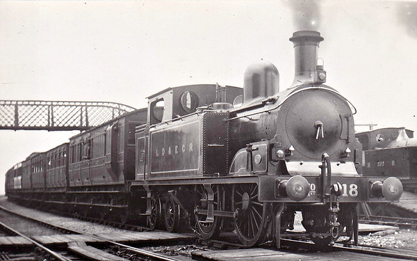 LANCASHIRE, DERBYSHIRE & EAST COAST RAILWAY - 18 - Kitson LD&ECR Class C 0-4-4T - built 1898 by Kitson & Co., Works No.3868 - 1908 to GCR Class  No.1152B,  10/25 to LNER Class G3 No.6402 - 11/35 withdrawn.  The Lancashire, Derbyshire & East Coast Railway was a railway with a big name and big ambitions and not much track mileage! It never got anywhere near to Lancashire or the East Coast! Opened in 1897, its mainline ran from Chesterfield Market Place Station to a junction with the GNR at Pyewipe Junction just west of Lincoln with a branch to Sheffield from Langwith Junction built in 1900. Centre of operations was at Tuxford, where there was a junction with the Great Northern mainline. The locomotive, carriage and wagon works were here. Despite heavy coal traffic, the line was impoverished and was taken over by the Great Central Railway in 1907. The company owned 37 locomotives, all built by Kitson of Leeds, 18 Class A 0-6-2T, 4 Class B 0-6-0T shunting engines, 6 Class C 0-4-4T for passenger work and 9 Class D 0-6-4T, all of which passed to the GCR and then the LNER.