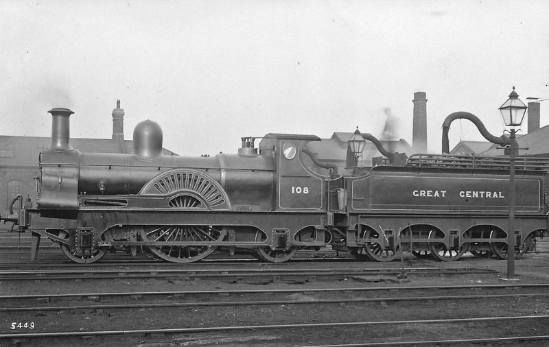 108 - Sacre MSLR Class 14 2-2-2 - built 1883 by Gorton Works as MSLR No.503 - to GCR No.108  - 1905 withdrawn.