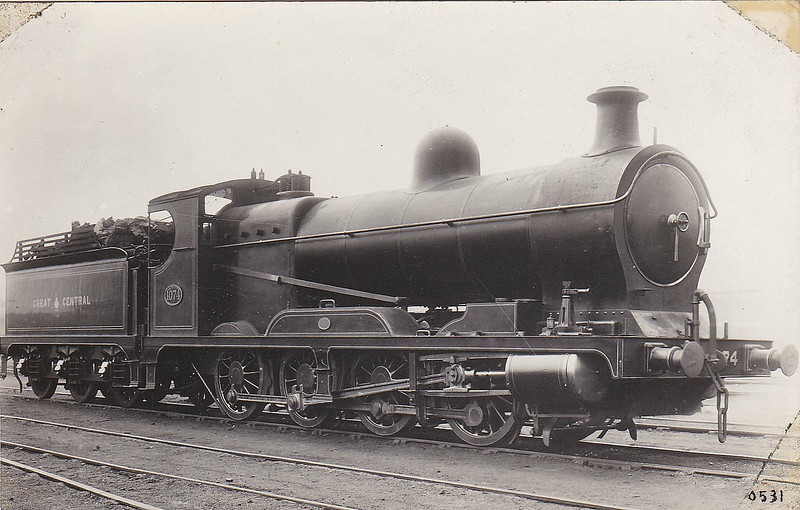 1074 - Robinson GCR Class 8B LNER Class Q4 0-8-0 - built 07/05 by Kitson & Co. - 03/24 to LNER No.6074 - 01/36 withdrawn from Frodingham MPD.