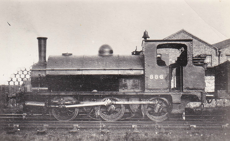 886 - Pollitt GCR Class 5 LNER Class J62 0-6-0ST - built 1897 by Gorton Works - 1924 to LNER No.5886 - 12/36 loaned to Sir Robert McAlpine for construction of Ebbw Vale Steelworks - damaged at Ebbw Vale - 11/37 withdrawn - seen here as built.