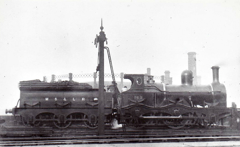 165 - Sacre MSLR Class 12A 2-4-0 - built 1885 by Gorton Works - 1889 to Duplicate List as No.165B, 1911 to No.545 - 1914 withdrawn.