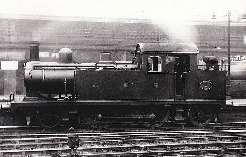 1 - Holden GER Class G69 LNER Class F6 2-4-2T - built 10/11 by Stratford Works - 1924 to LNER No.7001, 12/46 to LNER No.7230, 11/49 to BR No.67230 - 05/58 withdrawn from 30A Stratford - seen here at Liverpool Street, 08/12.