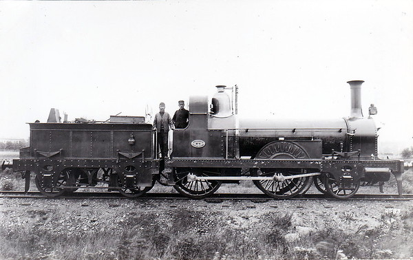 4 - Kinnear Clark GNSR Class 1 2-4-0 - built 1854 by W Fairbairn & Co. - all withdrawn by 1897 - seen here as built but with added cab and infilled splasher boxes.