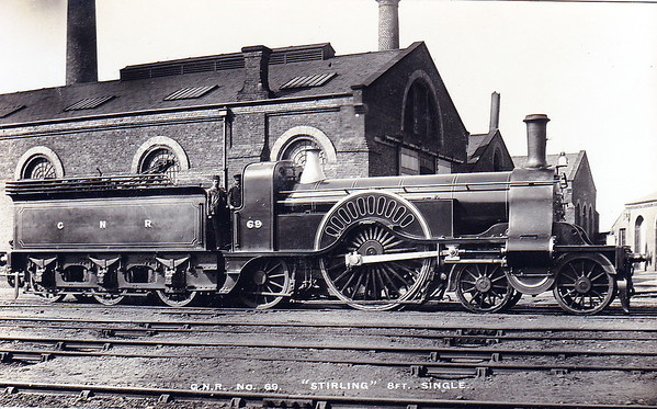 69 - Stirling GNR Class 1 4-2-2 - built 02/1877 by Doncaster Works, Works No.219 - 12/1886 reboilered - 06/01 withdrawn from Peterborough MPD.