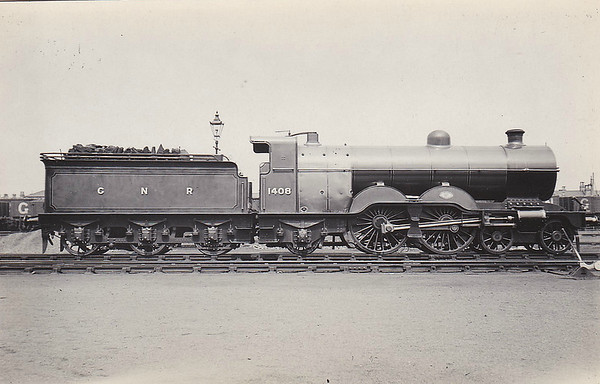 1408 - Ivatt GNR Class C1 4-4-2 - built 07/05 by Doncaster Works - 08/24 to LNER No.4408 - LNER No.2838 not applied - 07/45 withdrawn from Colwick MPD.