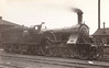 33 - Stirling GNR 8 Foot 4-2-2 - built 03/1871 by Doncaster Works - 08/1886 rebuilt - 07/04 withdrawn - seen here as running in 1901 with Ivatt smokebox door and chimney.