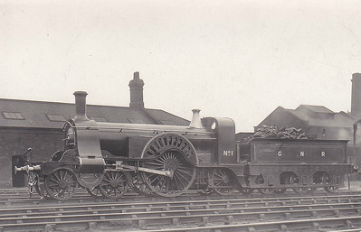 1 - Stirling GNR Class 1 4-2-2 - built 04/1870 by Doncaster Works - 09/07 withdrawn, partly dismantled - 1909 reassembled for exhibition purposes - 05/25 reactivated for S&D Centenary Parade, then to York Railway Museum - 06/38 returned to running order for publicity purposes and rail tours - 07/41 to store at Ferryhill (Co. Durham) for duration - 07/47 returned to York Meusem - 12/73 to NRM - still used for occasional steamings