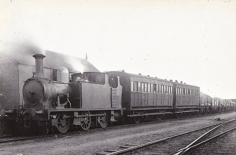 No.1 - 0-6-0T built 1904 by Hudswell Clarke - 1924 to LNER No.8316 - withdrawn 01/28 - seen here with a typical MSLR missed train.