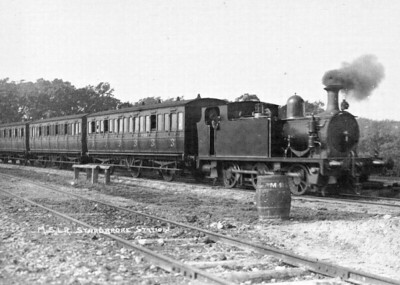 No.1 - 0-6-0T built 1904 by Hudswell Clarke - 1924 to LNER No.8316 - withdrawn 01/28 - seen here entering Stradbroke Station on the day after opening.