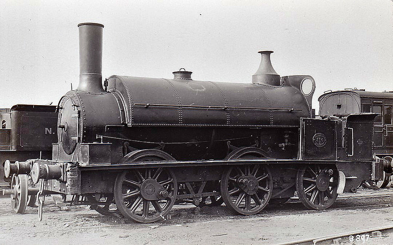 316A - Monklands Railway 0-4-2ST - built 1857 by Neilson & Co. as MR No.5 - 1865 to NBR No.316, 1884 to NBR No.316A - rebuilt as 0-6-0T at some point.