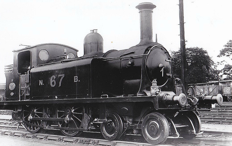 67 - Drummond NBR Class R LNER Class D51 4-4-0T - built 01/1883 by Cowlairs Works as NBR No.67 CLARKSTON - 07/21 to NBR No.1463 - 10/23 withdrawn from Perth South MPD - seen here at Perth.