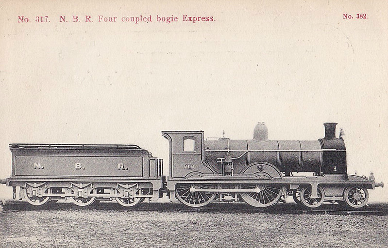 317 - Holmes NBR Class K LNER Class D26 4-4-0 - built 05/03 by Cowlairs Works - LNER No.9317 not applied - 08/24 withdrawn - posted October 6th, 1908.