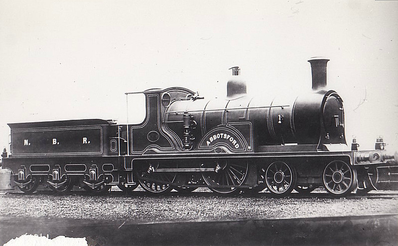 479 ABBOTSFORD - Drummond NBR 'Abbotsford' Class M LNER Class D27 4-4-0 - built 1877 by Cowlairs Works - 1904 rebuilt by Holmes - 1918 to NBR No.1324 - 1923 withdrawn - builder's picture (note numberplates have not been fitted).