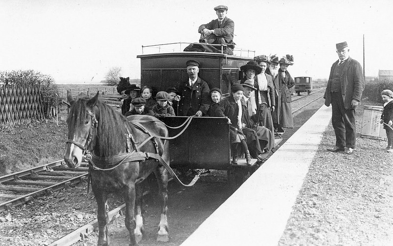 PORT CARLISLE DANDY - Between 1861 and 1914, passenger services over the 2.5 mile long Drumburgh to Port Carlisle line were provided by horse-drawn carriages. In 1914, steam locomotives took over, replaced by the LNER with a steam railcar until the line closed in June 1932.