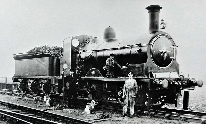 249 - Holmes NBR Class D LNER Class J33 0-6-0 - built 03/1887 by Cowlairs Works - 03./26 to LNER No.9249 - 11/31 chimney, cab and boiler fittings cut down for use on Gartsherrie Branch - 12/38 withdrawn from Kipps MPD.