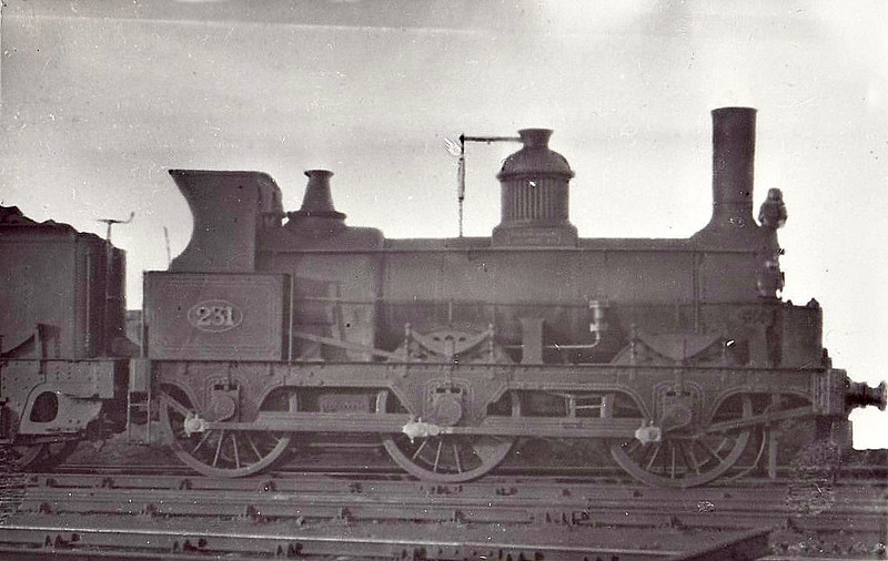 231 - York Newcastle & Berwick Railway 0-6-0 - built 1854 by EB Wilson & Co. as YN&BR No.1704 - 1854 to NER as No.231 - 1888 withdrawn.