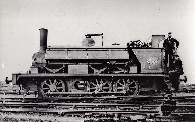 315 - Fletcher NER Class 665 0-6-0ST - built as Long Boiler 0-6-0 - 1870 rebuilt by Gateshead Works as 0-6-0ST - 1886 withdrawn.