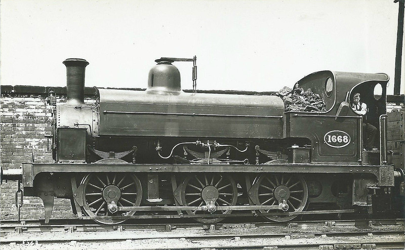 1668 - Fletcher NER Class 859 0-6-0ST - built 1873 by Robert Stephenson & Co. as NER No.1730 - 1895 to NER No.1668, then to NER No.865 - 1907 withdrawn.