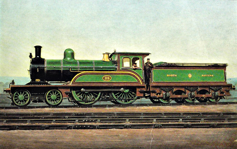 115 - Worsdell NER Class F LNER Class D22 4-4-0 - built 06/1887 by Gateshead Works - 1933 withdrawn from Manningham MPD,