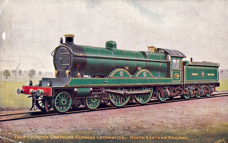 730 - Worsdell NER Class 4CC LNER Class C8 4-4-2 - built 04/06 by Gateshead Works - 01/35 withdrawn from Heaton MPD - posted April 17th, 1907.