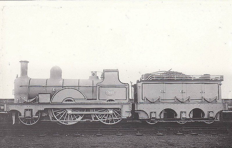 901 - Fletcher NER 901 Class 2-4-0 - built 1872 by Gateshead Works - 1913 withdrawn.