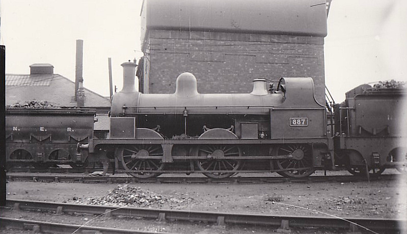 887 - Fletcher NER Class 879 0-6-0 - built 1874 by Robert Stephenson & Co. - 1885 to Class 398 - all withdrawn by 1928.