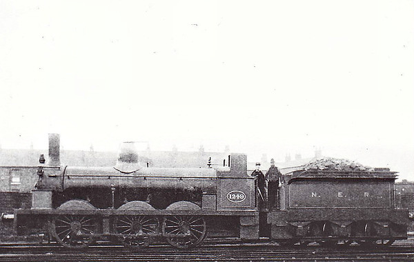 1249 - Stockton & Darlington 'Long Boiler' 0-6-0 - built 1873 by Hopkins, Gilkes & Co. as S&DR No.249 - 1874 to NER No.1249 - 1912 withdrawn.