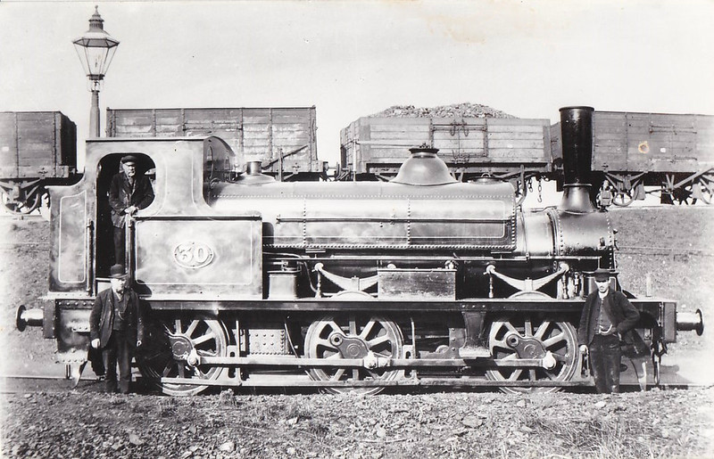 30 - Fletcher NER Class 665 0-6-0ST - built 1873 as 0-6-0 No.1763 and rebuilt to 0-6-0ST at Gateshead Works - 1894 withdrawn.