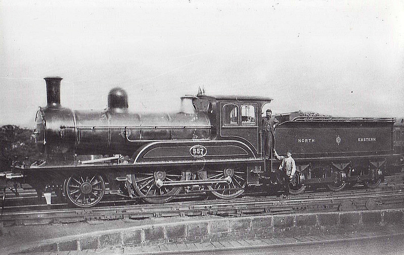 557 - Worsdell NER Class G LNER Class D23 2-4-0 - built 1887 by Darlington Works - 11/00 rebuilt to Class 23 4-4-0 - 01/31 withdrawn from Hull Botanic Gardens MPD.