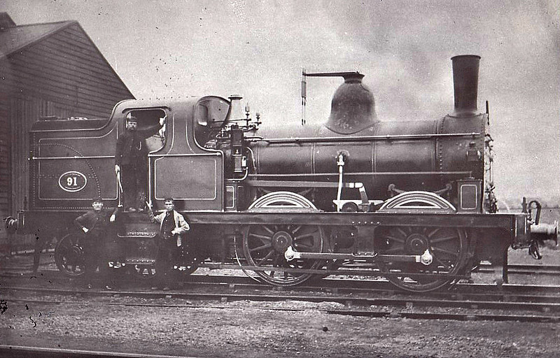 91 - Fletcher NER Class BTP LNER Class G6 0-4-4T - built 11/1879 by Gateshead Works - 08/23 withdrawn.