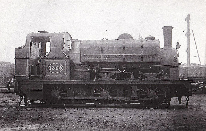 1358 - Fletcher Class 1350 0-6-0ST - built 1876 by R Hawthorn & Co. - 1912 withdrawn.