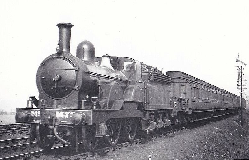 1475 - Tennant NER Class 1463 LNER Class E5 2-4-0 - built 1885 by Darlington Works - 1928 withdrawn.