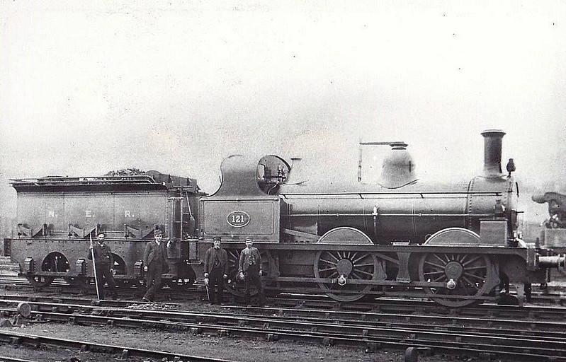 121 - Fletcher NER Class 398 0-6-0 - built 1881 by Gateshead Works - 1922 withdrawn.