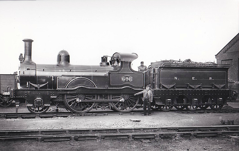 698 - Fletcher NER Class 686 2-4-0 - built 1870 by Robert Stephenson & Co. - 1910 withdrawn.