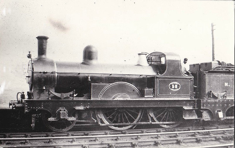 58 - Fletcher NER Class 40 2-4-0 - built 1882 by Darlington Works - 1912 withdrawn from Gateshead MPD.