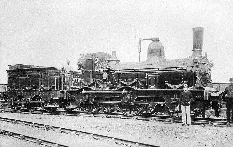373 - Leeds & Thirsk Railway 2-4-0 - built 1849 by RW Hawthorn & Co., Works No.565 - 1854 to NER as No.373 - 1890 withdrawn.