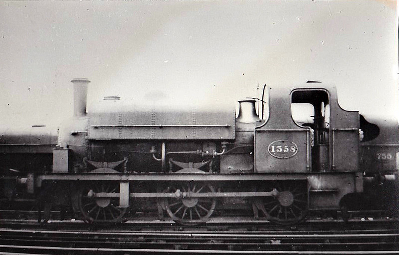 1358 - Fletcher Class 1350 0-6-0ST - built 1876 by R Hawthorn & Co. - 1910 withdrawn.