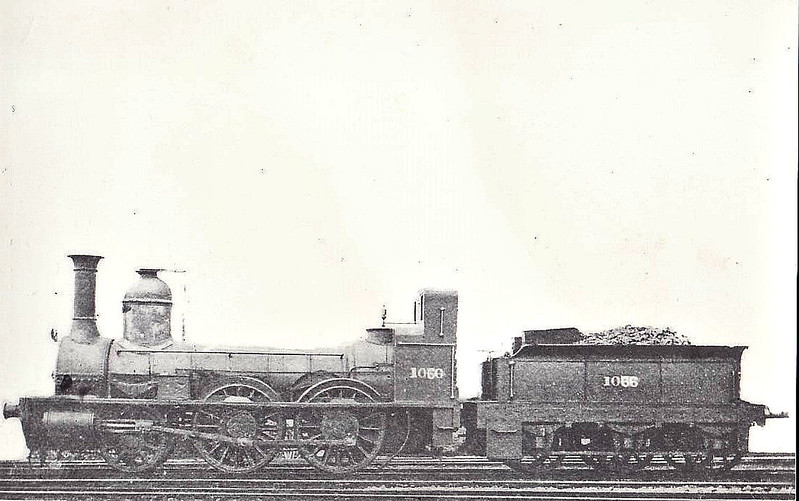 1066 - Stockton & Darlington Railway 'Priam' Class 2-4-0 - built 1851 by Gilkes, Wilson & Co. for the Newmarket & Great Chesterford Railway - to SDR as No.66 PRIAM - 1854 to NER as No.1066 - 1876 withdrawn.